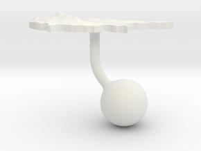 Cyprus Terrain Cufflink - Ball in White Natural Versatile Plastic
