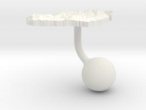 Ireland Terrain Cufflink - Ball in White Natural Versatile Plastic