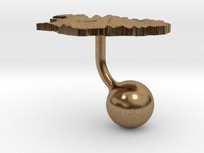 Iceland Terrain Cufflink - Ball in Natural Brass