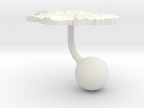 Iceland Terrain Cufflink - Ball in White Natural Versatile Plastic