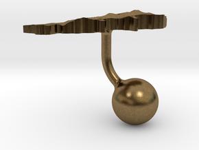 Lebanon Terrain Cufflink - Ball in Natural Bronze