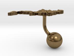 Japan Terrain Cufflink - Ball in Natural Bronze