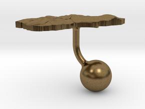 New Zealand South Island Terrain Cufflink - Ball in Natural Bronze