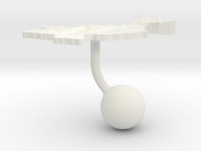 Pakistan Terrain Cufflink - Ball in White Natural Versatile Plastic