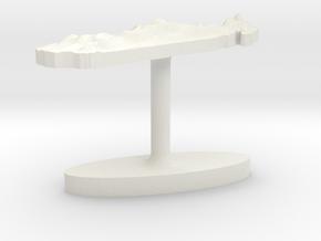 Madagascar Terrain Cufflink - Flat in White Natural Versatile Plastic