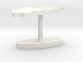 Palau Terrain Cufflink - Flat in White Natural Versatile Plastic