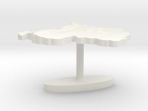 Rwanda Terrain Cufflink - Flat in White Natural Versatile Plastic