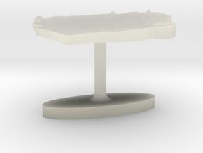 Sierra Leone Terrain Cufflink - Flat in Transparent Acrylic