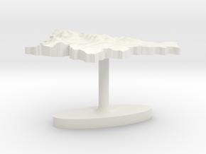 Slovenia Terrain Cufflink - Flat in White Natural Versatile Plastic