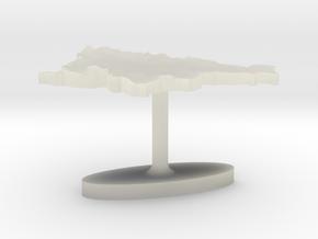 Slovenia Terrain Cufflink - Flat in Transparent Acrylic