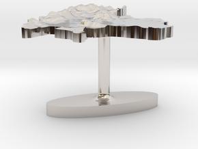 Thailand Terrain Cufflink - Flat in Platinum