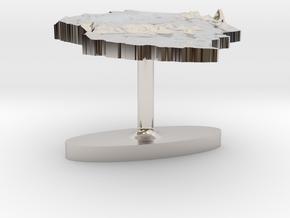 Tanzania Terrain Cufflink - Flat in Platinum