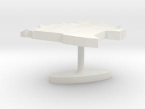 Angola Terrain Cufflink - Flat in White Natural Versatile Plastic