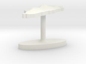 Bahrain Terrain Cufflink - Flat in White Natural Versatile Plastic