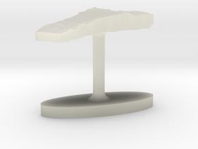 Benin Terrain Cufflink - Flat in Transparent Acrylic