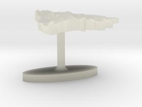 Bosnia and Herzegovina Terrain Cufflink - Flat in Transparent Acrylic