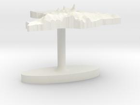 Brazil Terrain Cufflink - Flat in White Natural Versatile Plastic
