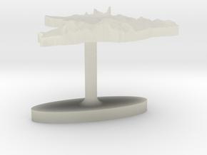 Brazil Terrain Cufflink - Flat in Transparent Acrylic