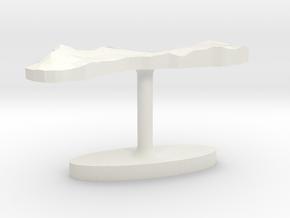 Guam Terrain Cufflink - Flat in White Natural Versatile Plastic