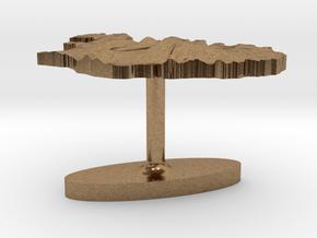 Iceland Terrain Cufflink - Flat in Natural Brass