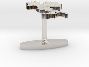 Italy Terrain Cufflink - Flat in Platinum