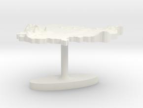 Cambodia Terrain Cufflink - Flat in White Natural Versatile Plastic