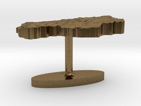 Lesotho Terrain Cufflink - Flat in Natural Bronze