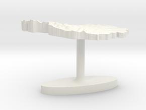 Austria Terrain Cufflink - Flat in White Natural Versatile Plastic