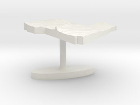 Libya Terrain Cufflink - Flat in White Natural Versatile Plastic