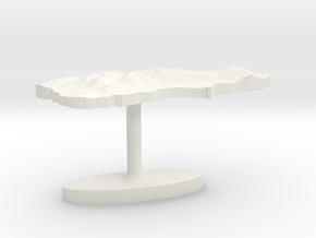 New Zealand South Island Terrain Cufflink - Flat in White Natural Versatile Plastic
