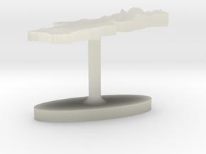 Portugal Terrain Cufflink - Flat in Transparent Acrylic