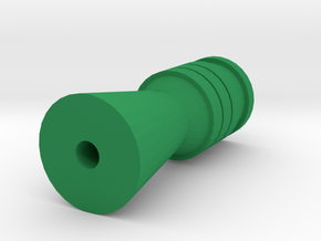 S.W.H.S. Airsoft Flashhider (14mm Self-Cutting) in Green Processed Versatile Plastic