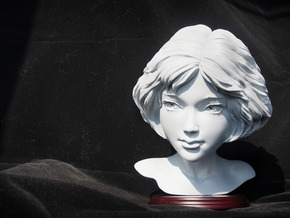 Mathilda Hollow in Smooth Fine Detail Plastic