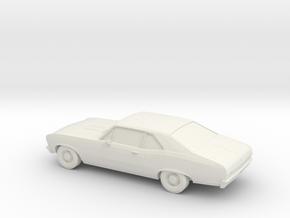 1/87 1969 Chevy Nova SS in White Natural Versatile Plastic