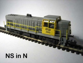 N NS 2900 diesellocomotief in Smooth Fine Detail Plastic