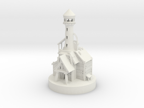 Lighthouse miniature in White Natural Versatile Plastic