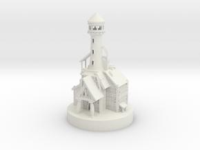 Lighthouse miniature in White Natural Versatile Plastic