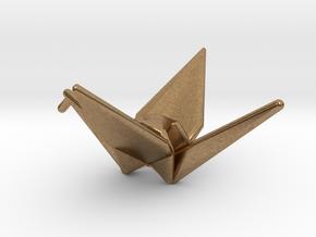 Origami Crane in Natural Brass