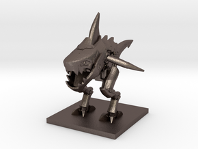 Sharkmech (Large) in Polished Bronzed Silver Steel