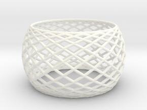 Bangle in White Processed Versatile Plastic