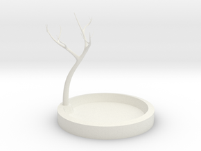 Jewelry Tree in White Natural Versatile Plastic