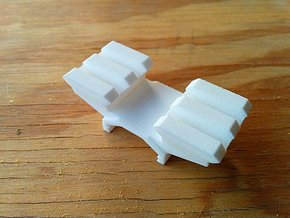 Two-Picatinny-Rails Adapter in White Natural Versatile Plastic