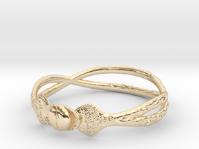 Snake ring(size = USA 5.5) in 14K Yellow Gold
