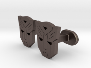 Transformers Cufflinks in Polished Bronzed Silver Steel