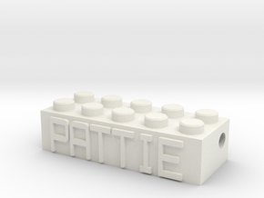 PATTIE in White Natural Versatile Plastic