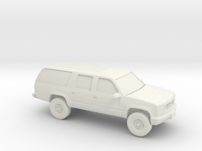 1/87 1994-99 GMC Suburban  in White Natural Versatile Plastic