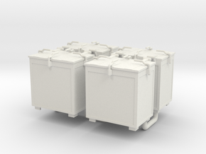 Oerlikon 20mm Ammunition Locker x 4. 1/35 Scale in White Natural Versatile Plastic