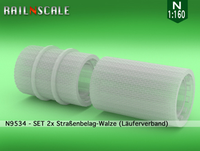 SET 2x Straßenbelag-Walze (Läuferverband - N 1:160 in Smooth Fine Detail Plastic