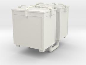 Oerlikon 20mm Ammunition Locker x 2. 1/35 Scale in White Natural Versatile Plastic