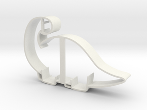 Brontosaurus Cookie Cutter in White Natural Versatile Plastic